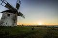 Windmill at Sunset Royalty Free Stock Photo