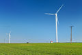 Windmill turbine. Wind energy power Royalty Free Stock Photo