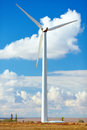 Windmill turbine for renewable energy production crimea Royalty Free Stock Images