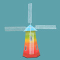 Windmill vector and illustration of a Royalty Free Stock Photography