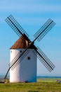 Windmill view of a in castilla la mancha spain Stock Photos