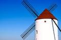 Windmill view of windmills in castilla la mancha spain Stock Photography