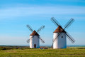 Windmill view of windmills in castilla la mancha spain Royalty Free Stock Photography