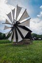 Windmill in the village museum image showing a traditional romanian open air near sibiu romania Royalty Free Stock Photos