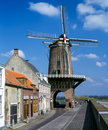 Windmill wijk bij duurstede in netherlands rijn en lek the city of the Royalty Free Stock Photography