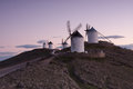 Windmills horizon la mancha spain Stock Image