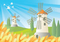 Windmills Illustration Stock Image