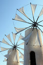 Windmills on island Crete, Greece Royalty Free Stock Photo