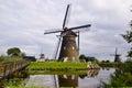Windmills kinderdijk in rotterdam netherland Stock Photo
