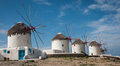 Windmills, Mikonos, Greece Royalty Free Stock Photo