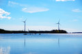Windmills for renewable electric energy production at coast, Fin