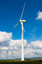 Windmills typical windmill or aerogenerator of aeolian energy Stock Image