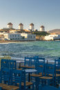Windmils of Mykonos Island, Greece Royalty Free Stock Photography