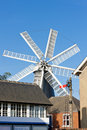 Windmolen in Heckington Stock Afbeelding