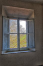 Window in a abandoned farm view of Royalty Free Stock Images