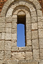 Window of ancient Temple ruins Royalty Free Stock Photo