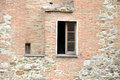 Window in ancient wall, perugia,italy Royalty Free Stock Photo