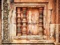 Window at Angkor Wat- Cambodia Royalty Free Stock Photo