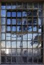 Window with bars in Alcatraz prison Royalty Free Stock Photo