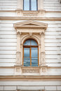 Window with beautiful architecture modeling and columns Royalty Free Stock Photo