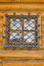 Window behind iron bars Royalty Free Stock Photo