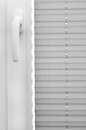 Window blinds closed and a handle Royalty Free Stock Images