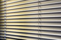 Window blinds metal with drawstring roller shutter background Stock Photo