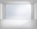 Window With Blinds. Vector Ill...