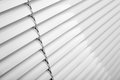 Window blinds white plastic close studio shot Stock Photos