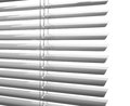 Window blinds white plastic close studio shot Stock Images