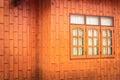 Window blockhouse orange illustrate the general background Stock Photos