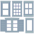 Window blueprint illustrations Royalty Free Stock Photo