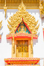 Window  Buddhist chruch Royalty Free Stock Photography
