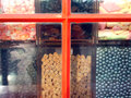 Window candy shop mobile shot Stock Photo