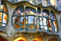 Window of Casa Batllò by Gaudì in Barcelona Royalty Free Stock Photo