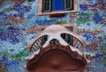 Window of casa batllo barcelona the peculiar balcony in spain Stock Photo