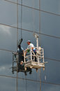 Window cleaner glass facade Royalty Free Stock Photo