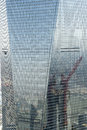Window cleaning is not easy but to clean one of the highest skyscrapers in shanghai the shanghai world finanacial center you must Stock Images