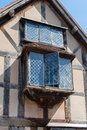 Window close up of the ancient house william shakespeares birthplace in stratford upon avon uk Stock Image