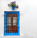Window in Cordoba, Andalucia in Spain, Europe. Stock Photo