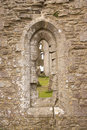Window in Corfe castle Stock Photo