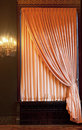 Window curtain with an ornament Royalty Free Stock Photo