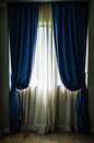 Window and curtain in the room Royalty Free Stock Photo
