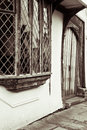Window door medieval english cottage Royalty Free Stock Images