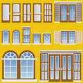 Window and door vector Stock Images
