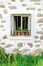 Window of a farm in upper austria Royalty Free Stock Photography