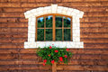 Window with flowers Royalty Free Stock Photo