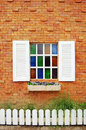 Window with Glass Color Royalty Free Stock Photo