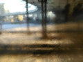 Window glass in a rainy day Royalty Free Stock Photo