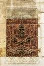 Window with Hindu design in Geneva Royalty Free Stock Photo